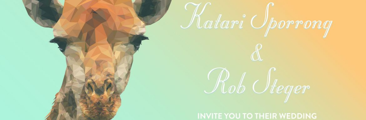 Low Poly Giraffe Wedding Invitiation, 2015