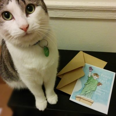 Cats Take Over New York, Holiday Cards, 2014