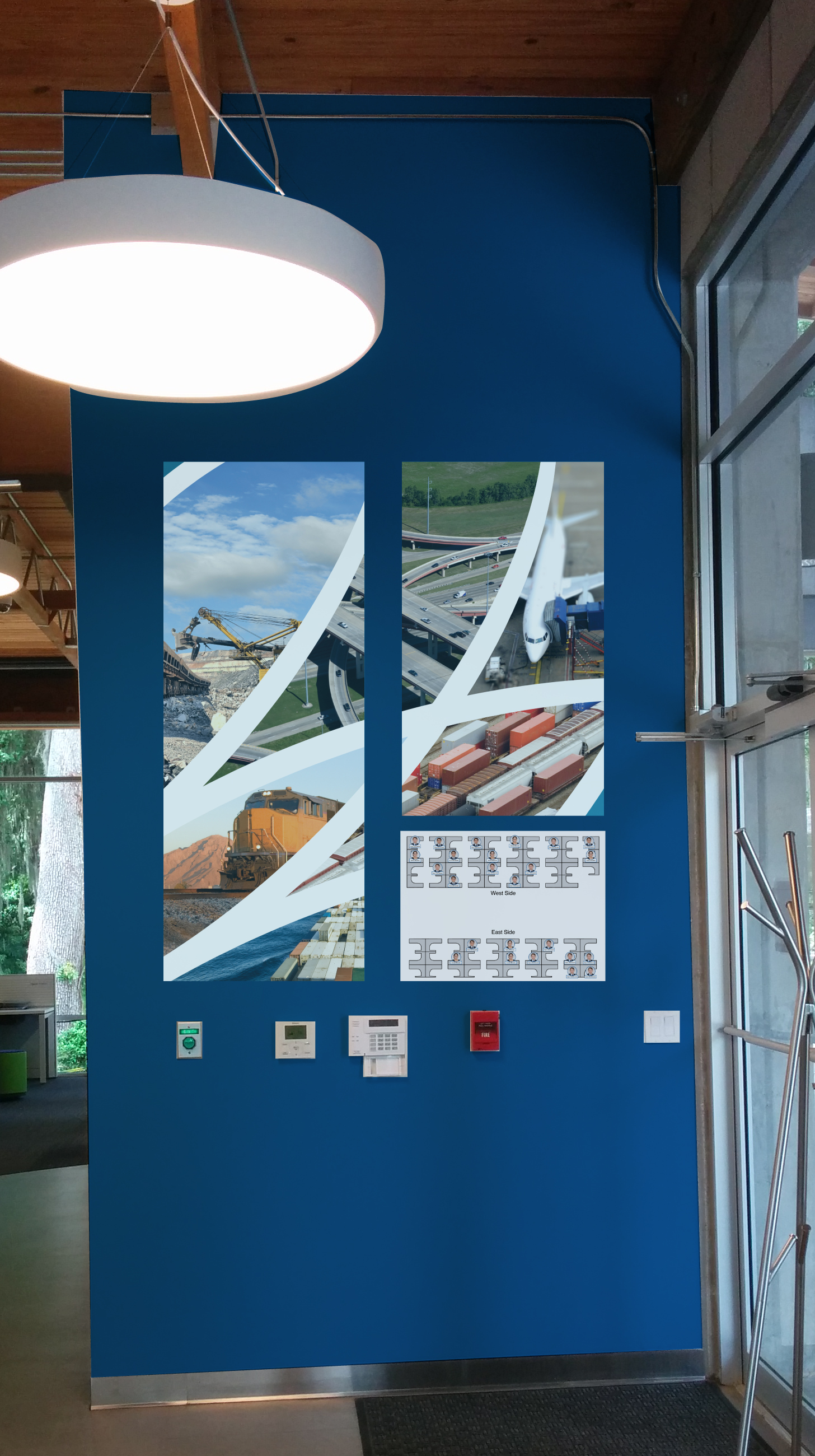 Office Mural, Transportation Industry Panels, West Wall, 2015