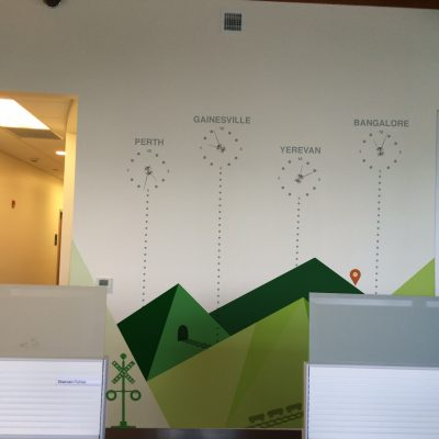 Office Mural, Mountains on Wall, 2015