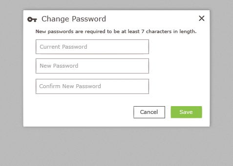 Optym HaulPLAN, Change Password Form, 2015