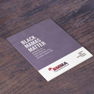 Mockup of Black Mamas Matter Alliance toolkit cover.