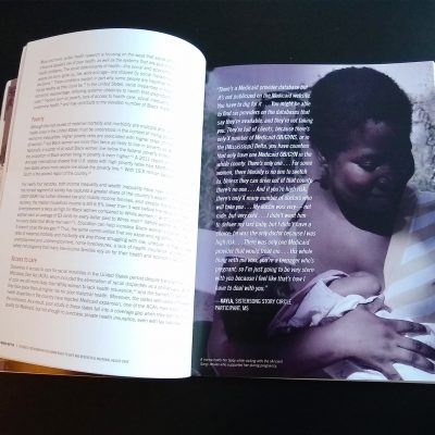 Photo of one of my favorite spreads from the Black Mamas Matter Alliance toolkit.